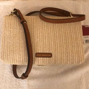 Enzo angiolini straw crossbody bag